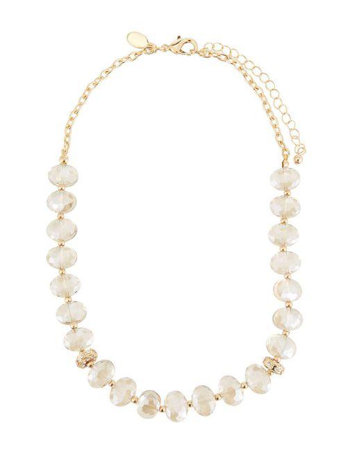Fragments | Metallic Crystal Bead Short Collar Necklace | Lyst
