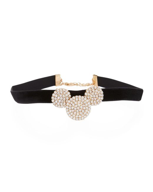 Fragments - Black Pavé Triple Disc Choker - Lyst