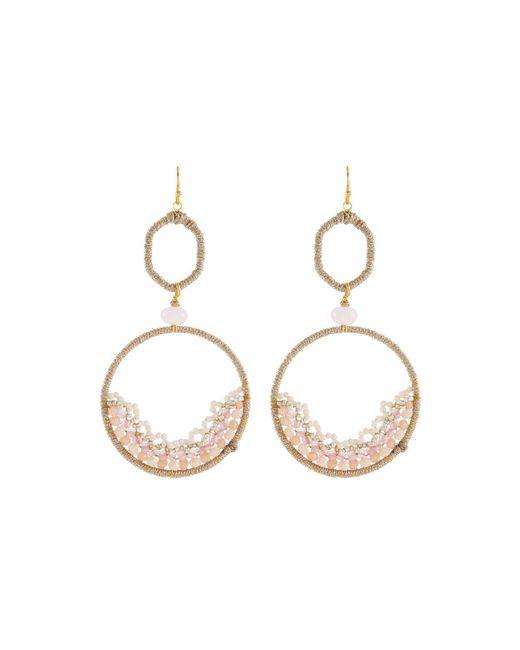 Nakamol - Pink Open Bead Frame Drop Earrings - Lyst