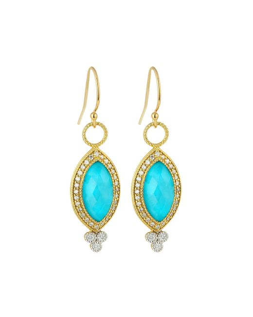 Jude Frances - Blue 18k Provence Pave Diamond & Doublet Marquise Dangle & Drop Earrings - Lyst
