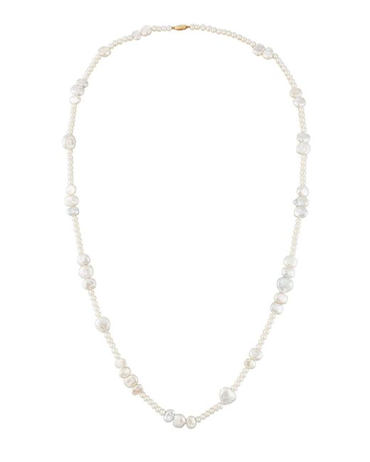 Belpearl | White Off-round/baroque Pearl Necklace | Lyst