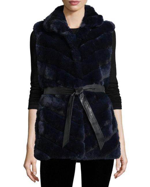 Gorski - Gray Rabbit Fur Reversible Down Jacket - Lyst