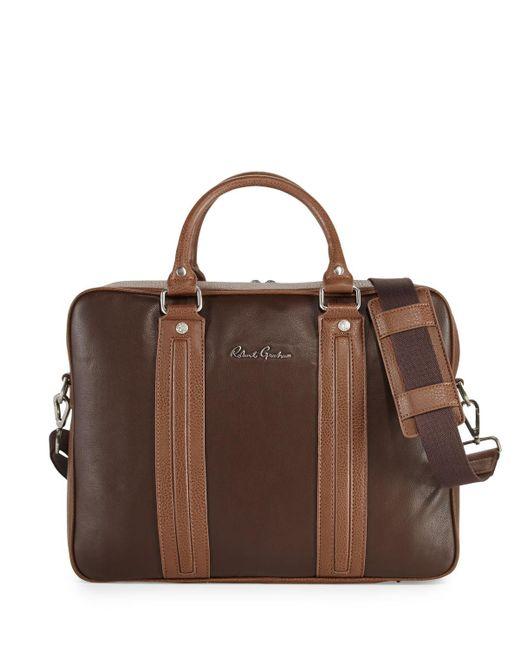 Robert Graham Brown Roman Leather Briefcase