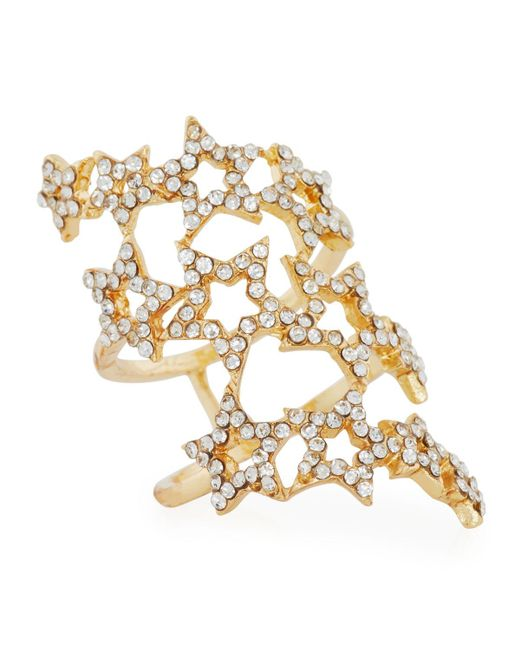 Romeo and Juliet Couture | Metallic Three-row Pavé Star Ring | Lyst