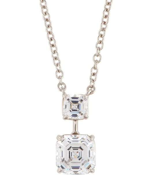 Fantasia by Deserio - Multicolor Asscher-cut Crystal Double-drop Pendant Necklace - Lyst