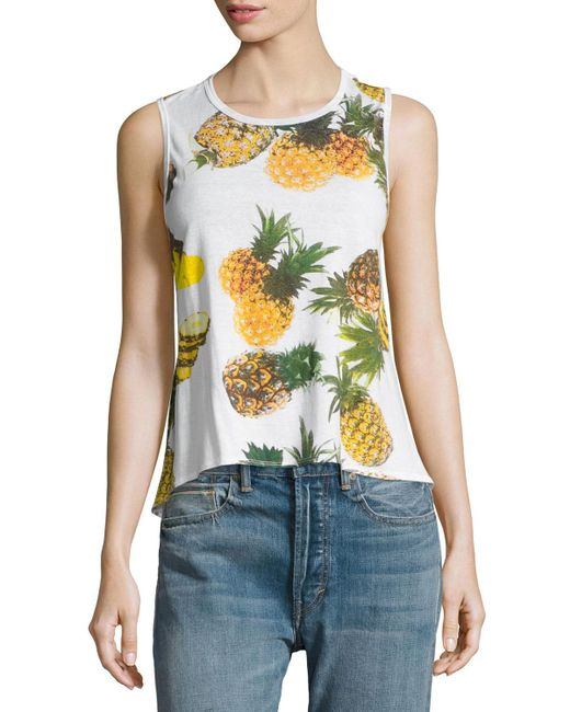 Chaser   White Pineapple Paradiso Tank Top   Lyst