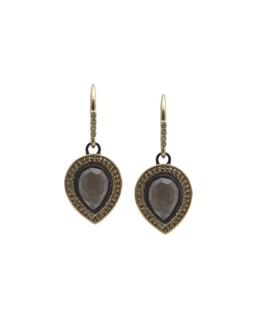 Armenta | Gray Old World Pear Triplet Drop Earrings W/ Mixed Diamonds | Lyst