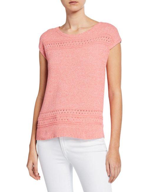 Lilla P - Orange Easy Pullover Stitch Sweater - Lyst