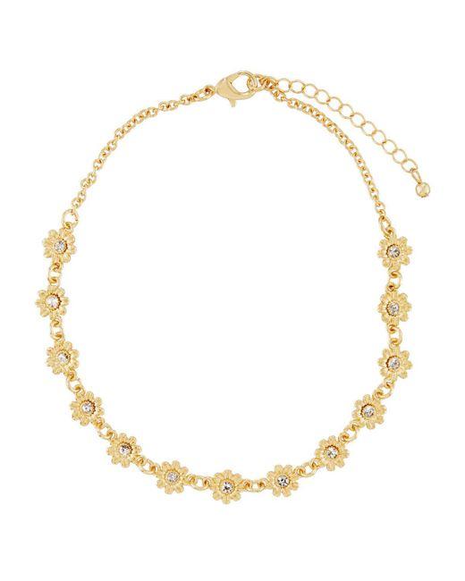Fragments | Metallic Flower Crystal Choker Necklace | Lyst