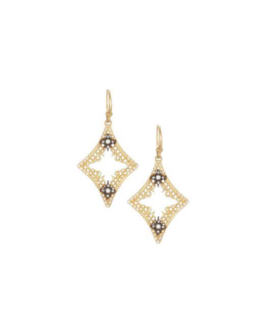 Armenta | Metallic Old World 18k Open Mesh Drop Earrings W/ Diamonds | Lyst