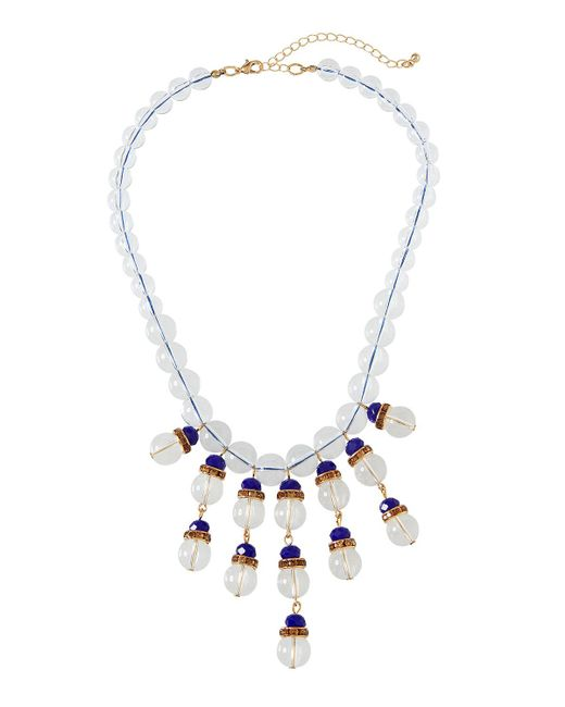 Fragments - Metallic Montana Clear & Pave Statement Necklace for Men - Lyst