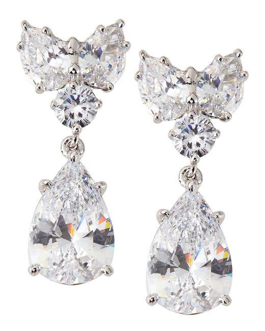 Fantasia by Deserio - White Pear-cut Cz Waterfall Chandelier Earrings - Lyst
