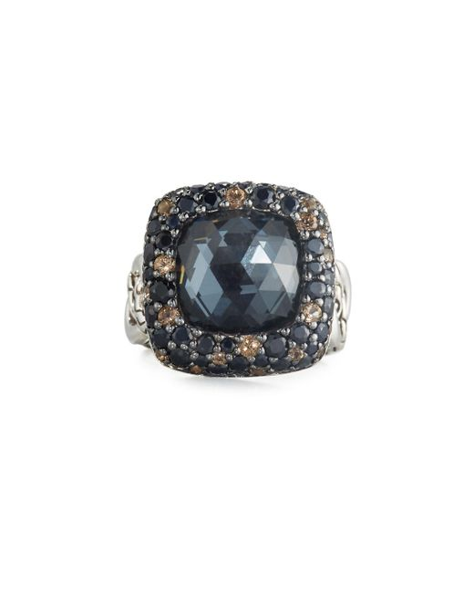 John Hardy - Black Batu Klasik Square Multi-gem Ring - Lyst