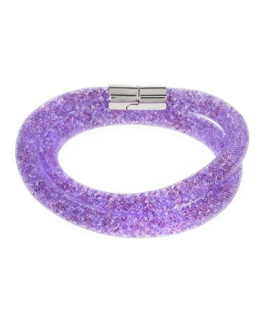 Swarovski - Purple Stardust Convertible Crystal Mesh Bracelet/choker - Lyst