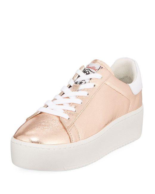 Ash - Pink Cult Metallic Platform Sneakers - Lyst