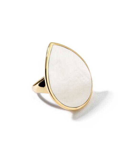 Ippolita   Metallic 18k Teardrop Rock Candy Mother-of-pearl Ring   Lyst