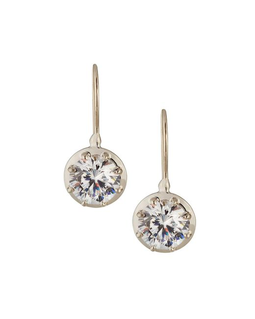 Fantasia by Deserio - Multicolor Cz Round-cut Dangle & Drop Earrings - Lyst