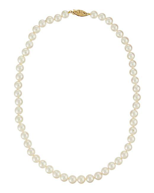 Belpearl | White 14k Akoya Pearl Necklace | Lyst