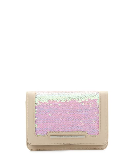 French Connection | Multicolor Vanessa Sequined Clutch Bag | Lyst