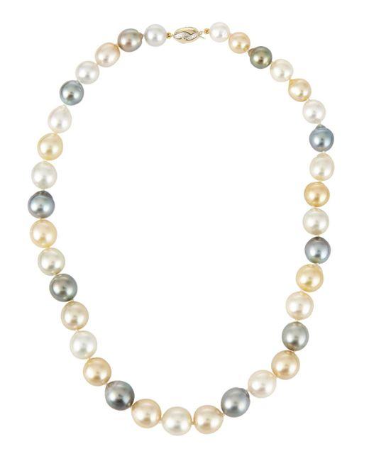 Belpearl | Metallic 14k Multicolor Tahitian & South Sea Pearl Necklace | Lyst