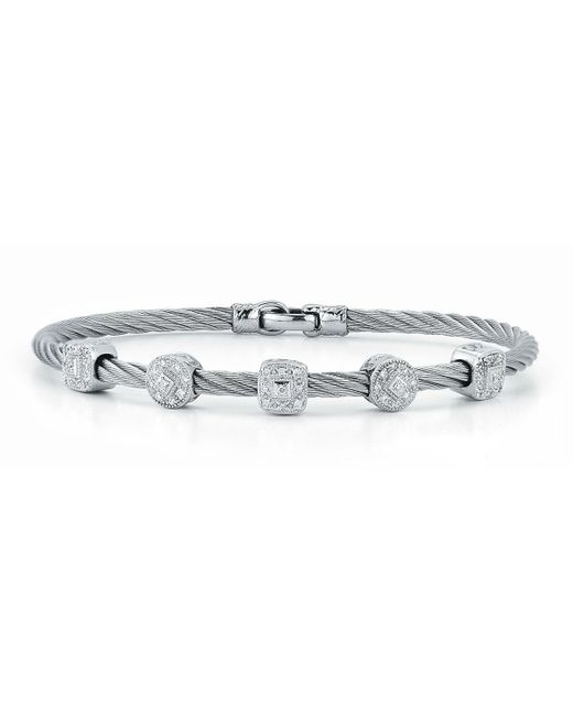Alor | Metallic Pave Diamond Five-station Cable Bracelet | Lyst