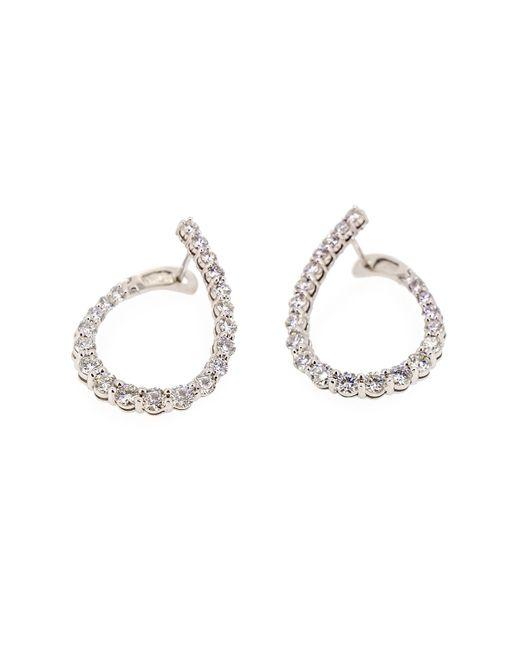 Neiman Marcus | Metallic Love Journey 14k Diamond Loop Earrings | Lyst
