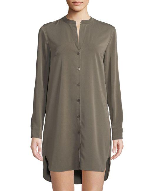 BCBGeneration - Green Cold-shoulder Long-sleeve Shirtdress - Lyst