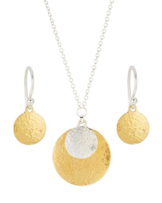 Gurhan - Metallic Lush Double Drop Earring & Necklace Boxed Set - Lyst