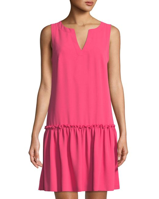 Trina Turk - Pink Yarrow Sleeveless Crepe Dress - Lyst