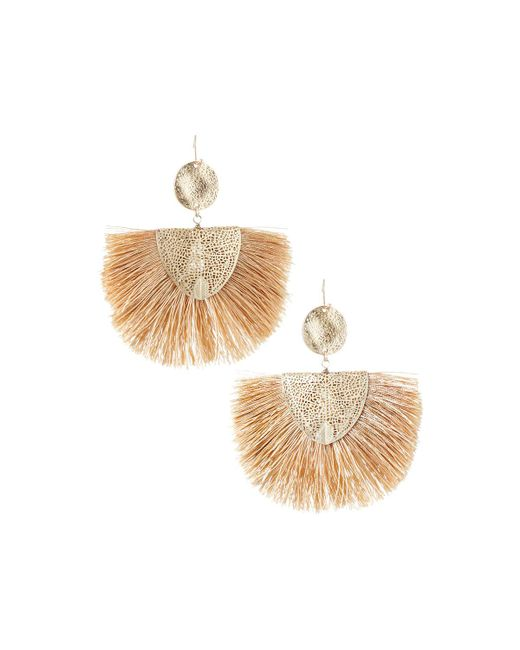 Lydell NYC - Metallic Fan-style Drop Earrings - Lyst