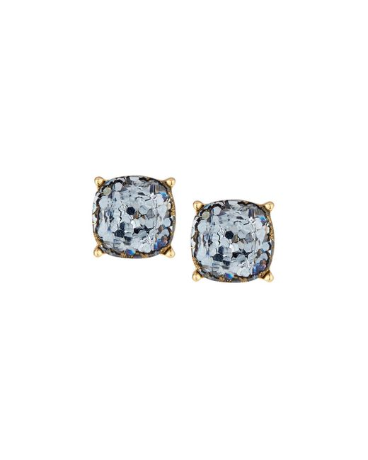 Lydell NYC - Blue Glitter Stud Earrings - Lyst