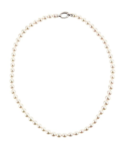 Majorica | Round White Pearl Necklace | Lyst