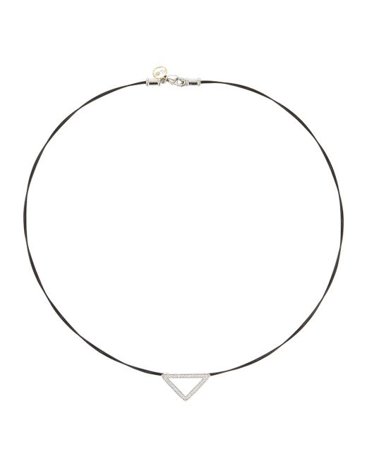 Alor - Triangular Diamond Pendant Necklace Black - Lyst
