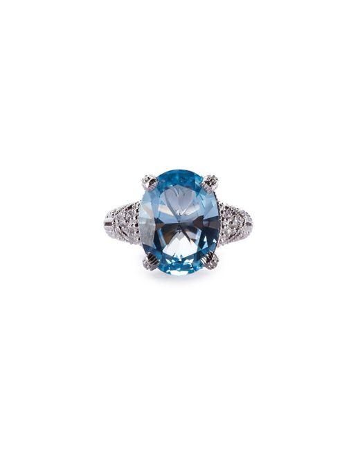 Judith Ripka | Estate Blue Topaz & Sapphire Cocktail Ring | Lyst