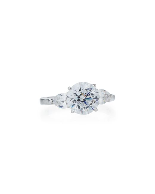 Fantasia by Deserio | White Round-cut Cubic Zirconia Solitaire Ring | Lyst