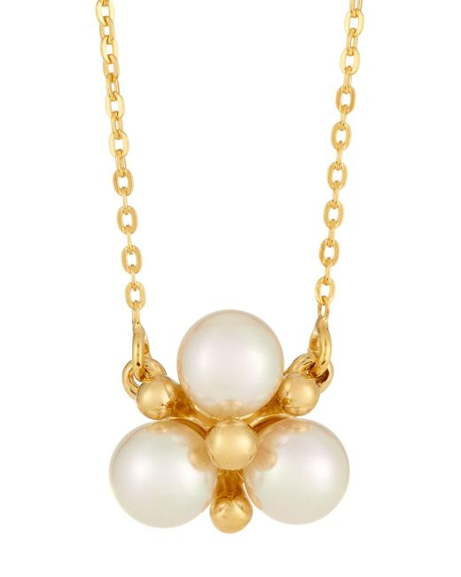 Majorica - White You & I Manmade Pearl Cluster Pendant Necklace - Lyst