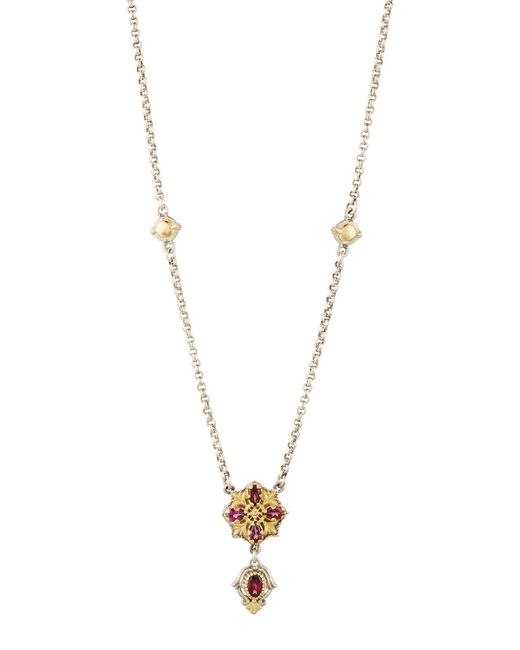 Konstantino | Purple Artemis Rhodolite Pendant Necklace | Lyst