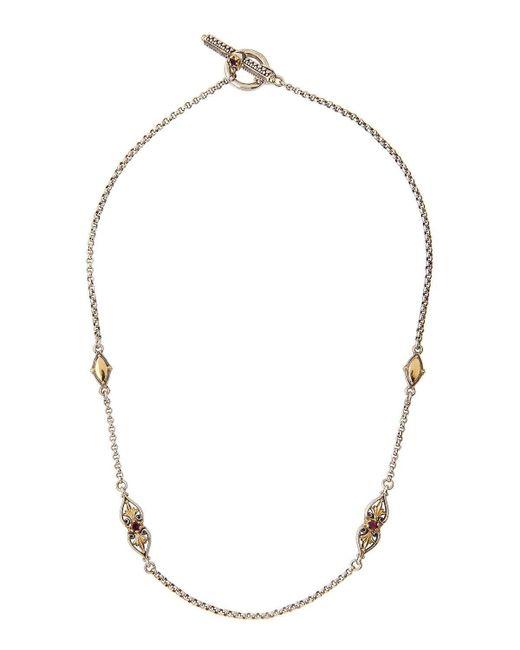 Konstantino | Metallic Aura Silver & 18k Gold Rhodolite Necklace | Lyst