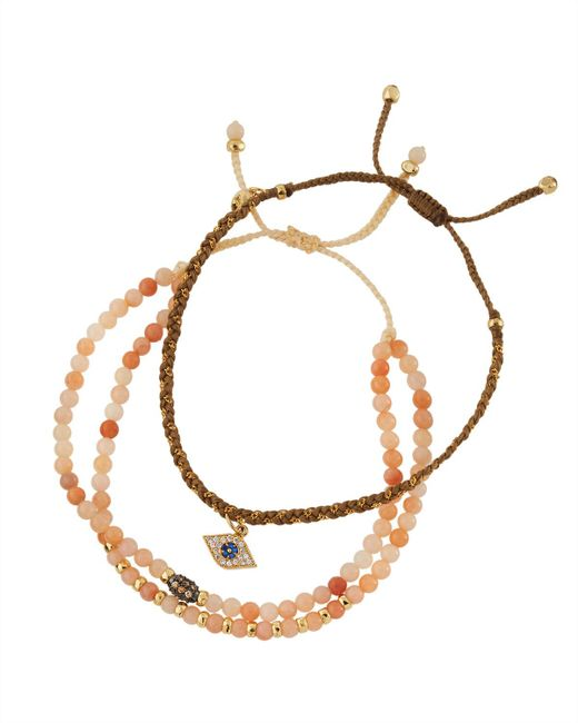Tai | Multicolor Crystal Beaded Evil Eye Bracelets | Lyst