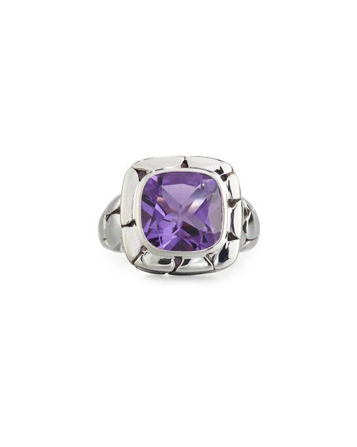 John Hardy   Purple Batu Kali Square Amethyst Ring   Lyst