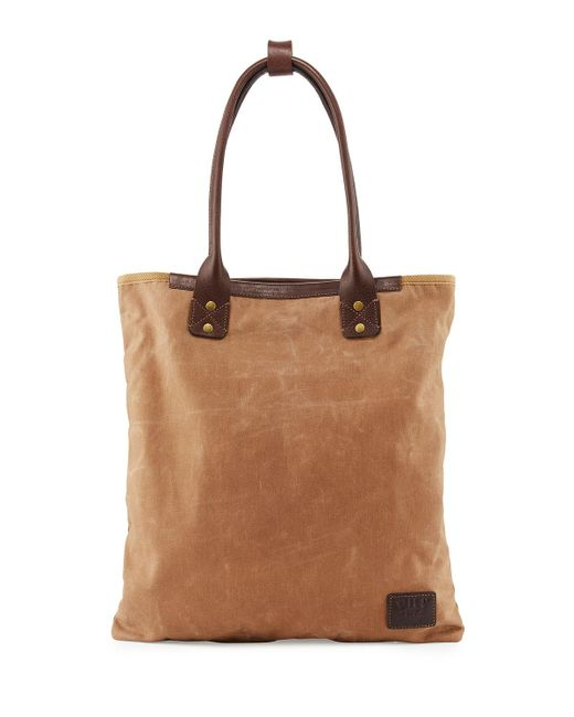 Will Leather Goods | Brown Cooper Spur Canvas Tote Bag | Lyst
