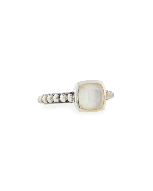 Stephen Dweck | White Crystal Quartz & Mother-of-pearl Ring | Lyst