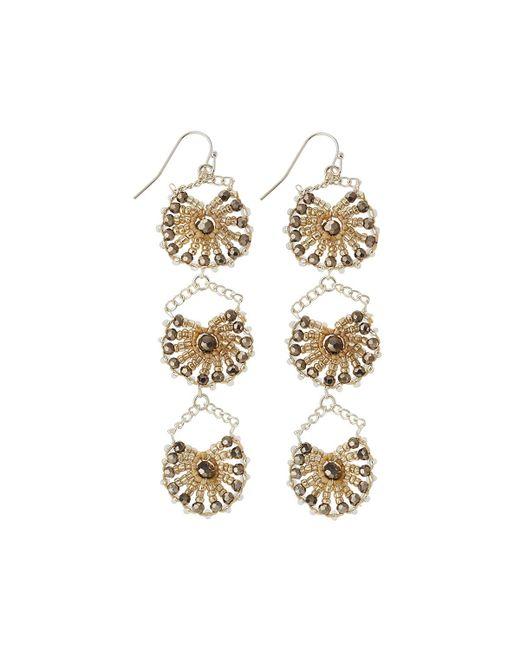 Nakamol   Metallic Crystal Triple-drop Statement Earrings   Lyst