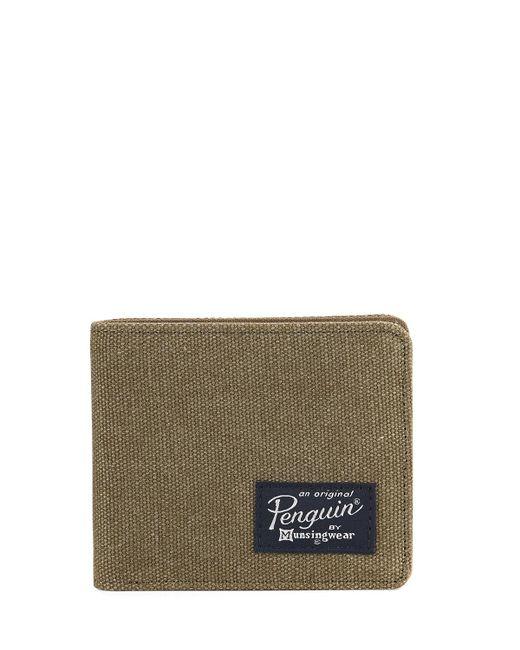 Original Penguin | Green Waxed Canvas Bi-fold Wallet for Men | Lyst