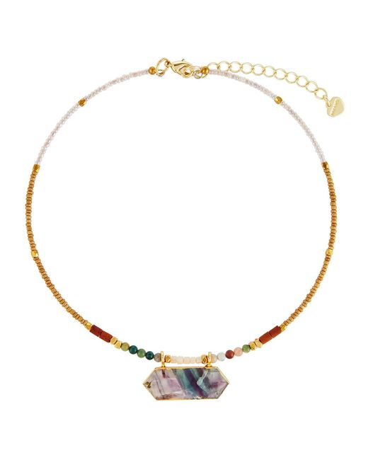 Nakamol | Multicolor Beaded Choker Necklace W/ Unakite Pendant | Lyst
