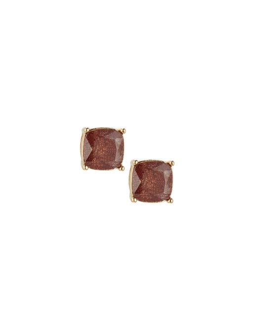 Lydell NYC | Brown Cushion-cut Cz Speckle Stud Earrings | Lyst