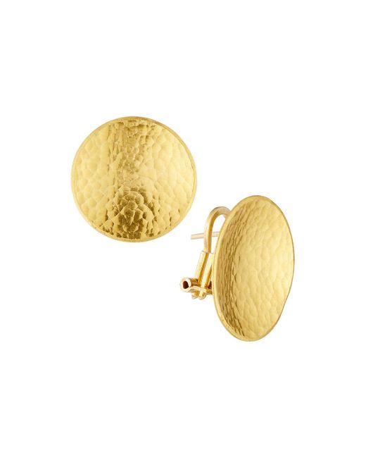 Gurhan | Metallic Hourglass 24k Medium Disc Earrings | Lyst