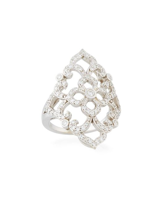 Penny Preville | 18k White Gold Diamond Lace Ring | Lyst