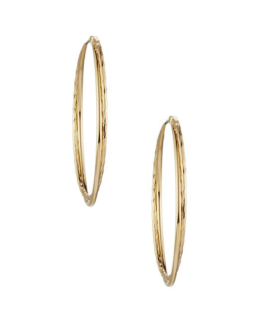 Lydell NYC   Metallic Large Twisted Hoop Earrings   Lyst