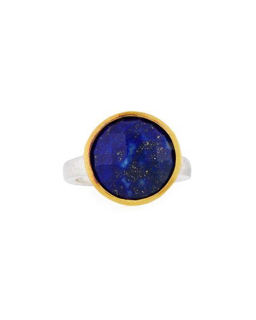 Gurhan   Blue Amulet Hue Large Round Lapis Ring   Lyst